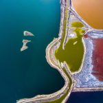 Stunning Aerial images of Salt Lake in China